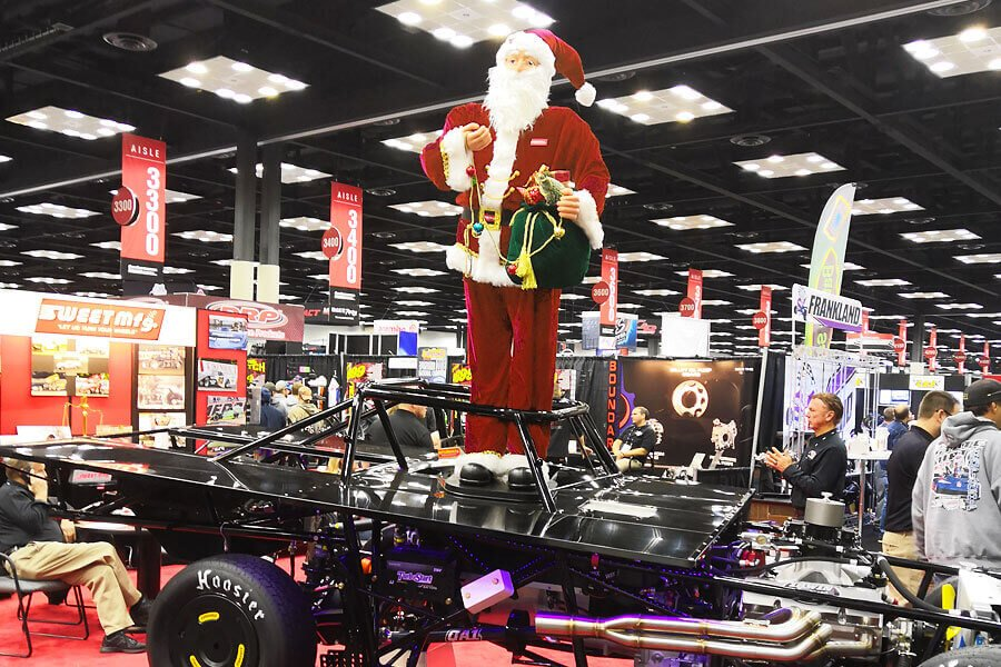 Santa Claus wishes you a Merry Christmas and Happy New Year from PRI 2018 - Performance Racing Industry