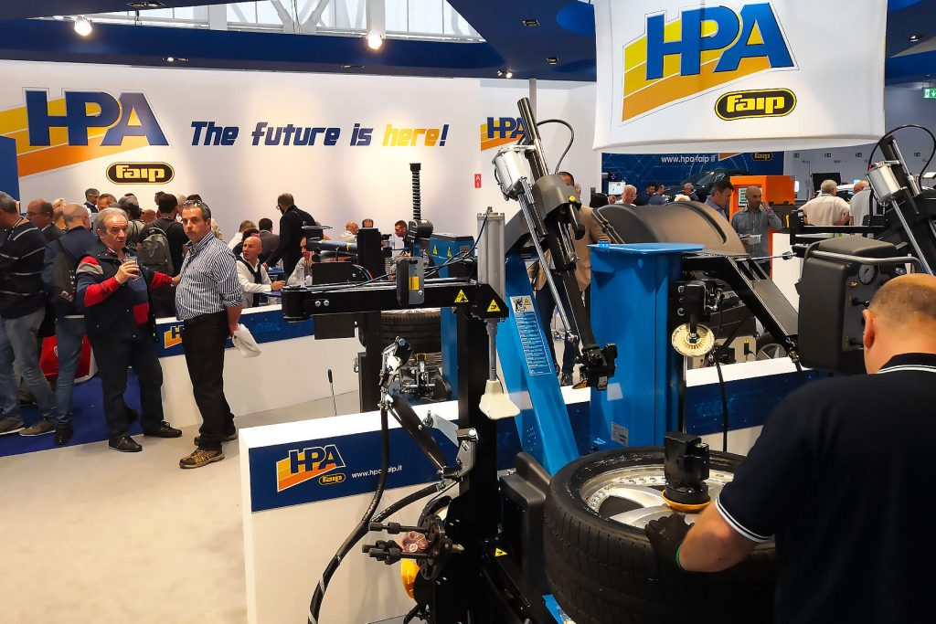 The stand of HPA-Faip at Autopromotec 2019