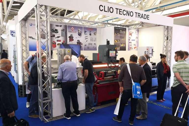 Lo stand di Clio Tecno Trade ad Autopromotec 2019