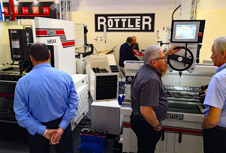 The Rottler stand at Automechanika 2018