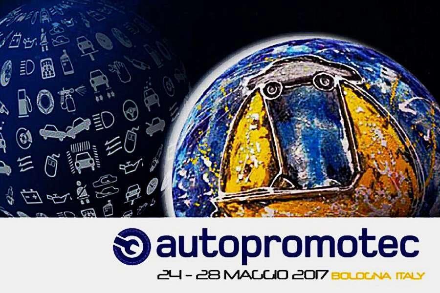 Locandina di Autopromotec 2017 la fiera per attrezzature per officine