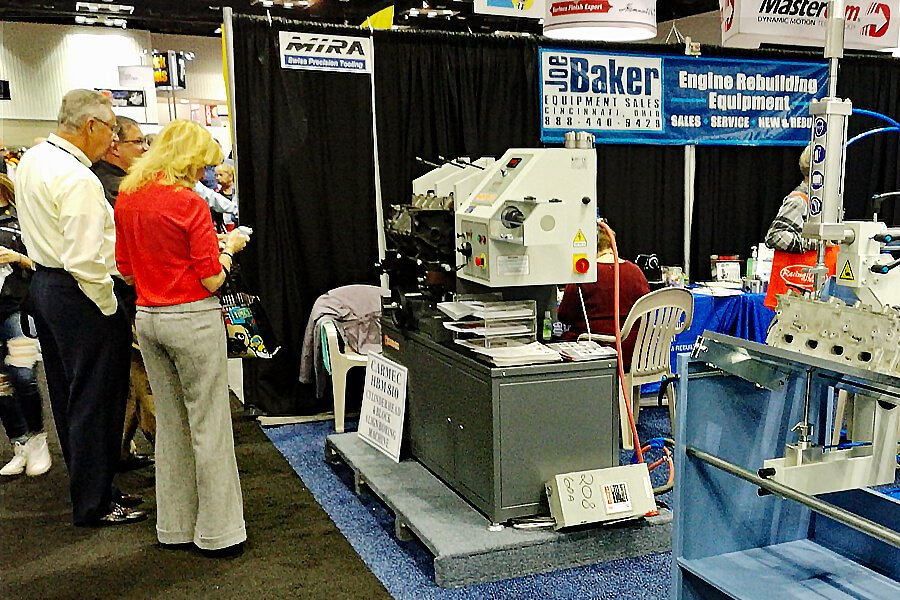 Joe Baker Equipment Sales stand at PRI 2017 Performance Racing Industry