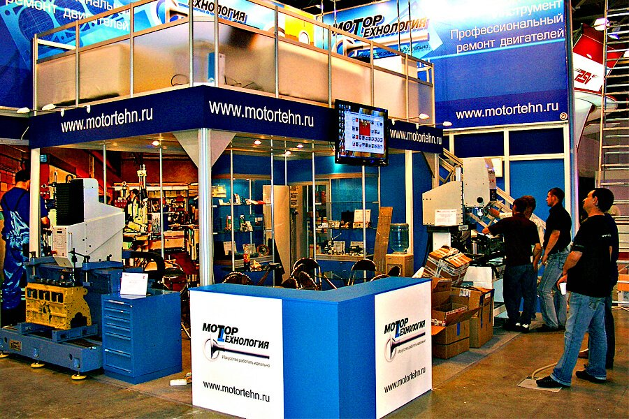Motortehnology is always present at motor repair fairs in Russia