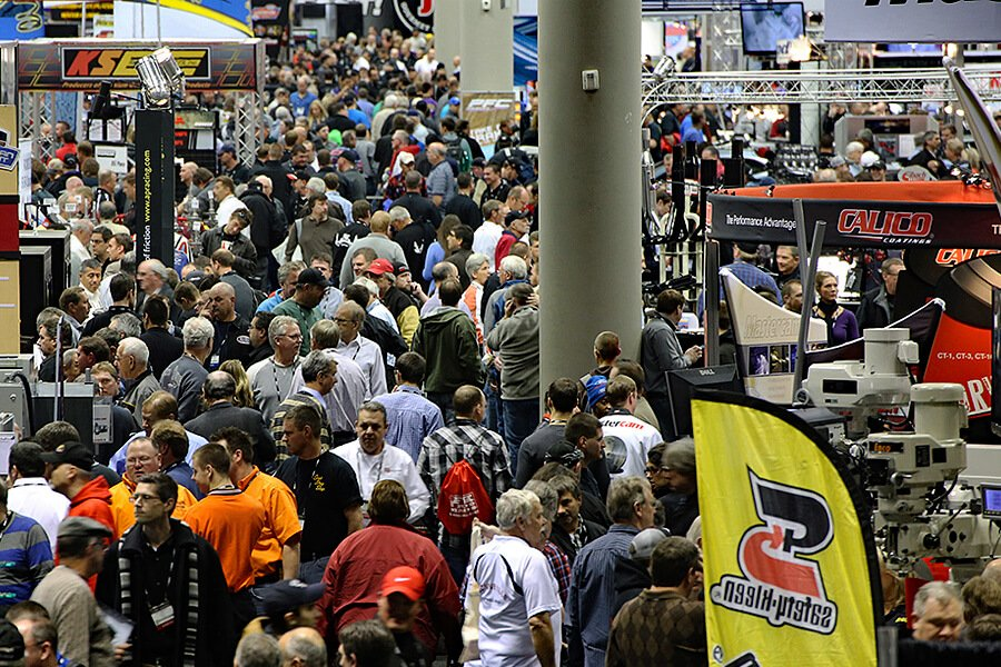 Crowd of visitors attending the 30th edition of the PRI - Performance Racing Industry of Indianapolis