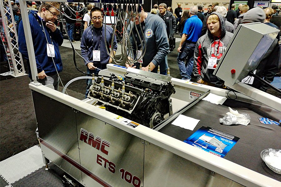 RMC ETS-100 Engine Test System at PRI 2017 Performance Racing Industry