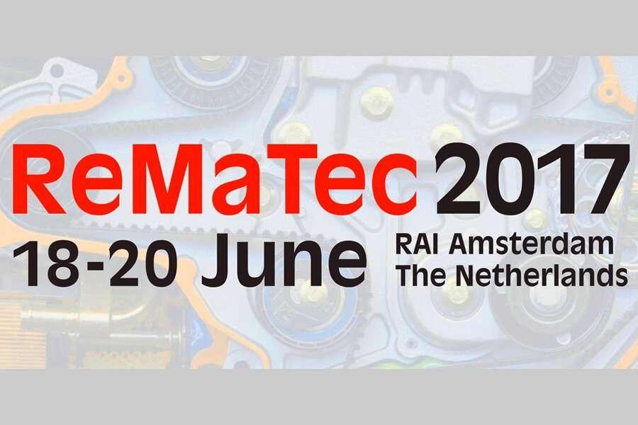 Locandina di ReMaTec 2017 di Amsterdam fiera specifica per la riparazione motori
