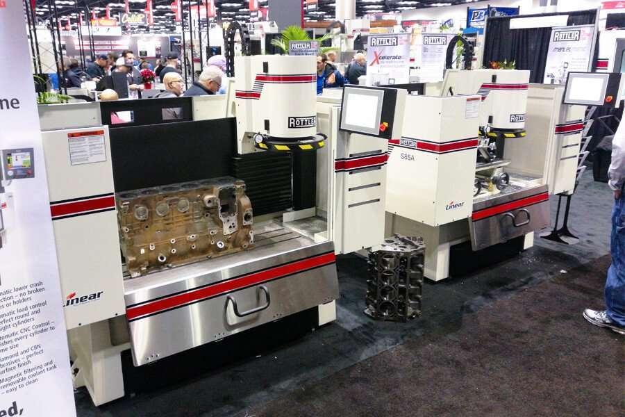 Las cepilladoras automáticas CNC de superficie Rottler S85A y S86A en el PRI de Indianápolis