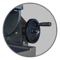 Carmec VGP 1200 - Handwheel for adjusting the angle