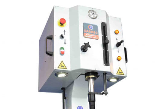 Carmec VGP 1200 control panel valve guide press