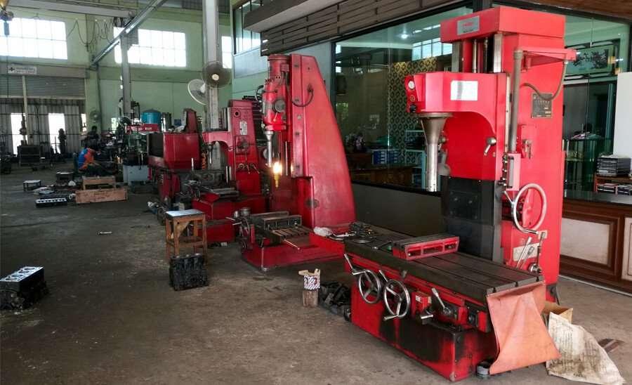Chinese boring machines inside the engine rebuilding workshop Ket Mongkol