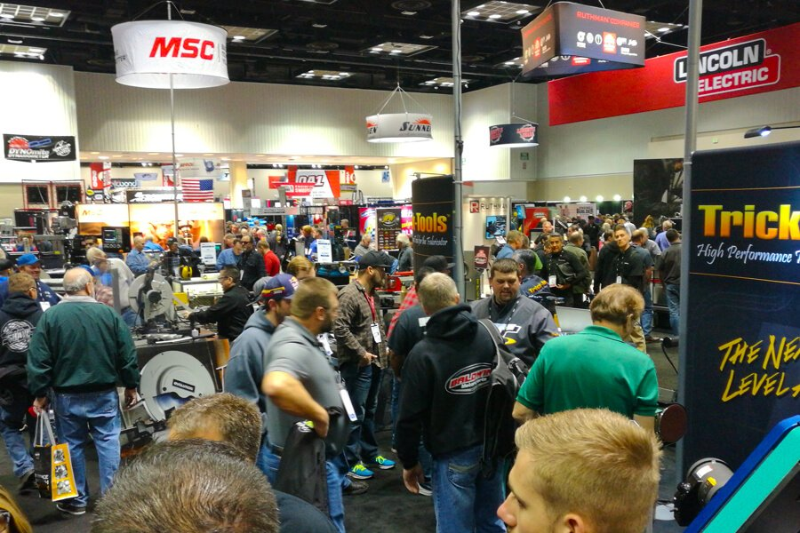 Visitantes en el PRI 2017 Performance Racing Industry