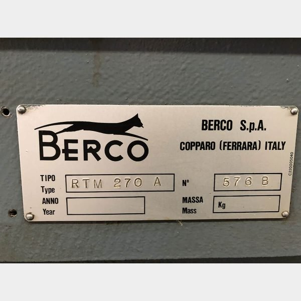 MU462 BERCO RTM 270 CRANKSHAFT GRINDING MACHINE