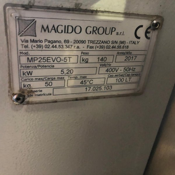 MAGIDO HP25 EVO 5T used washing machine