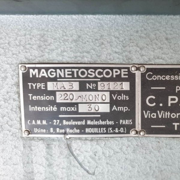 CAMM MA3 Magnetoscope