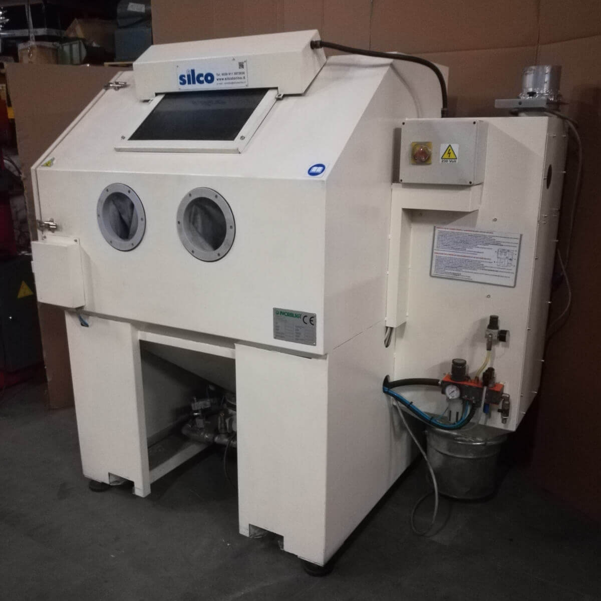 SILCO S12P Used Shot Peening Machine