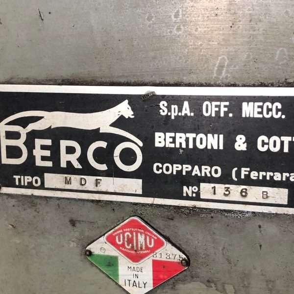 BERCO MDF Rectificadora De Discos De Freno Usada