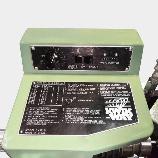 Kwik-Way SVS II Deluxe Rettifica valvole pannello comandi
