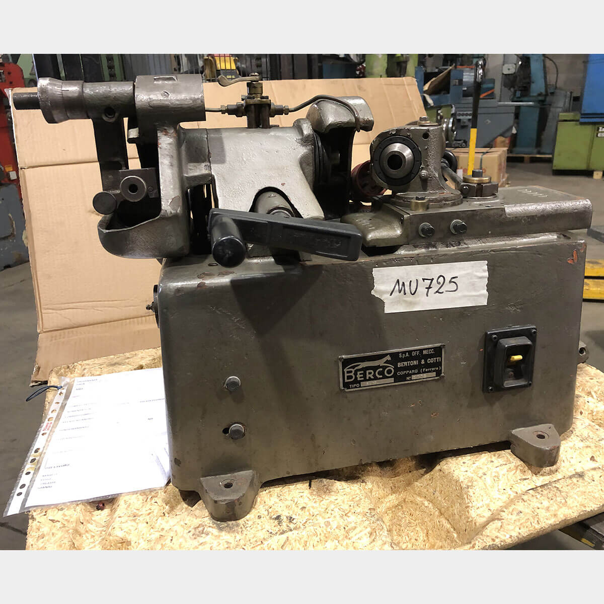 MU725 - BERCO RV17 Used Valve Grinding Machine