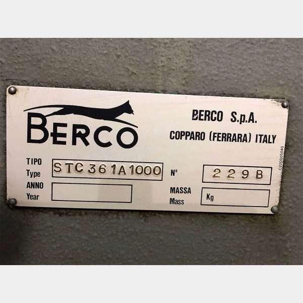 MU746 - BERCO Spianatrice STC 361 Spianatrice Testate