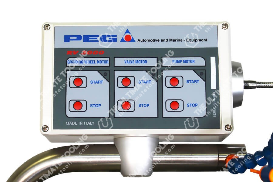 PEG RV 3000 rettifica valvole pannello comandi