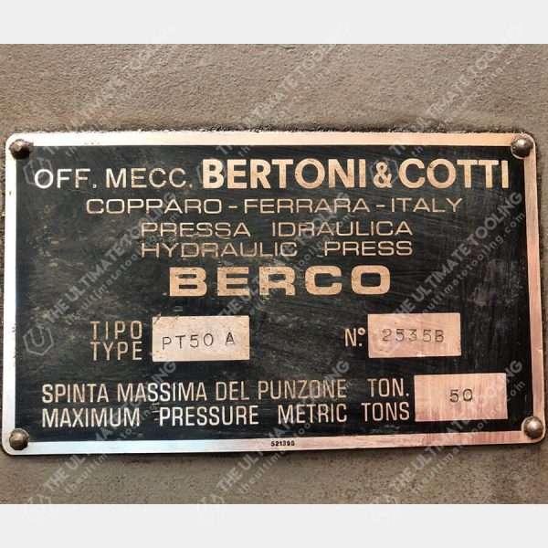 MU840 - BERCO PT 50 A Pressa