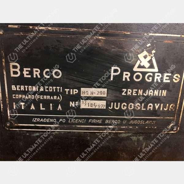 The Ultimate Tooling - MU884 - BERCO HON 200 Bruñidora De Cilindros