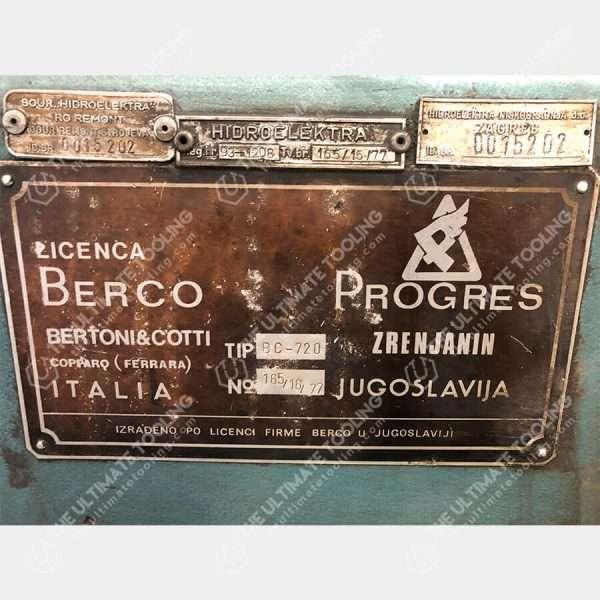 MU885 - BERCO BC 720 Alesatrice Cilindri